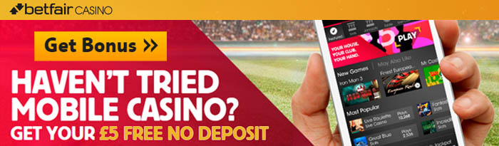 5 free no deposit mobile casino