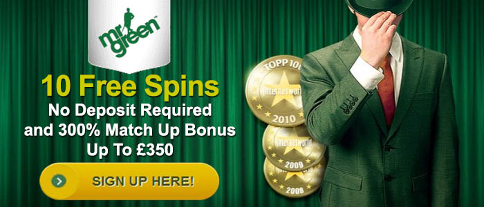 Mr green free spins no deposit