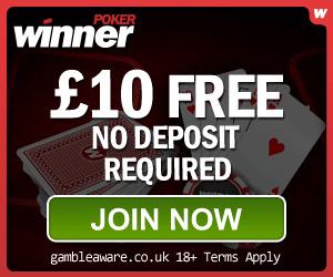 winner poker mobile casino 10 free bonus