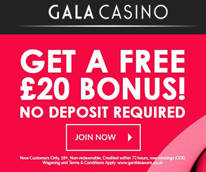 UK Mobile Casino Gala 20 free