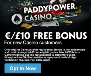 Mobile casino no deposit UK - paddy power
